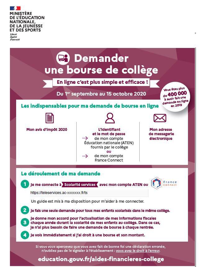 Flyer college demande de bourse.JPG